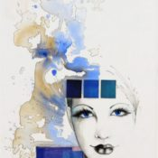 14_BLUE_60x90_Acryl auf Leinwand, Collage
