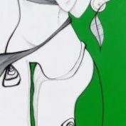 28_GREEK GREEN_40x120 Acryl auf Leinwand