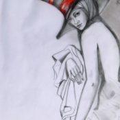 34_LITTLE SECRET_Blei-Farbstift auf Papier A4