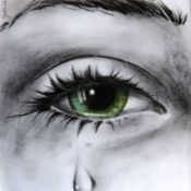 38_CRYING_Blei-Farbstift auf Papier A4