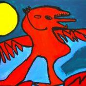 hs_016_Der Drache von Ljubljana 50x70 Acryl