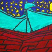 hs_031_Flughund in der Nacht 50x70 Acryl