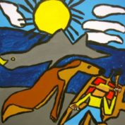 hs_035_Seehund, Hai und der Bildermaler 70x70 Acryl