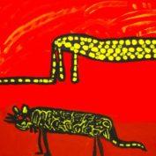 hs_040_Leopard und Nebelparder in der Wueste 50x70 Acryl