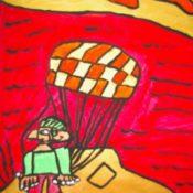 hs_053_Der Parasailer am Meer 50x70 Acryl