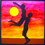 hs_184_100x100_Liebespaar im Sonnenuntergang