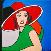 hs_205_20x20_Frau mit dem roten Hut