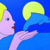 hs_229_50x70_Blondine mit Delfin
